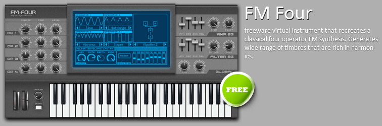 FM Four VSTi freeware four operator FM synthesizer