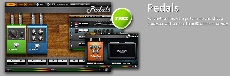 Pedals VST freeware guitar amp suite