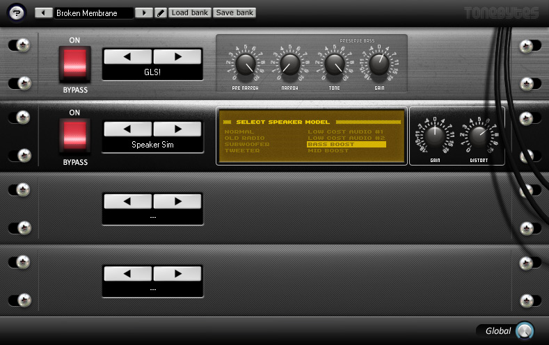 Virtual rack designed to add some nice lo-fi