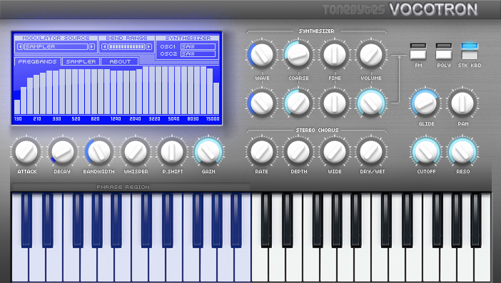 VST plug-in that combines sampler and vocoder